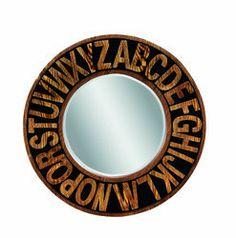 Bassett Mirror Alphabet Mirror in Black