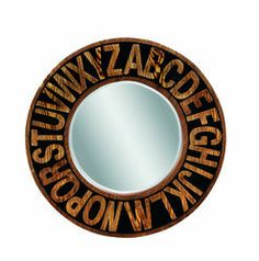 Bassett Mirror Alphabet Mirror in Black