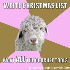 Fuck Yeah Crochet Goat es un Tumblrque se toma el ganchillo y el punto con mucho humor. Hace ocho meses ya os ofrecimos una selección con sus mejores chistes, titulado Punto, ganchillo y humor. Po…