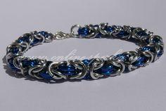 Modro stříbrný byzantský náramek 89 Kč Unisex, Diamond, Bracelets, Jewelry, Fashion, Moda, Jewlery, Jewerly, Fashion Styles