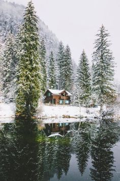 winter cabin by Jannik Obenhoff Winter Szenen, Winter Cabin, Cabins And Cottages, Cabins In The Woods, The Great Outdoors, Beautiful Landscapes, Beautiful Places, Scenery, Photos