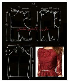 Sewing techniques Dress Sewing Patterns, Clothing Patterns, Fashion Sewing, Diy Fashion, Sewing Clothes, Diy Clothes, Pattern Cutting, Pattern Drafting, Love Sewing
