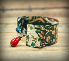Vintage Tin Bracelet, Bohemian Bangle Bracelet, Gypsy, Hippie Primitive Jewelry, Recycled Tin Jewelry