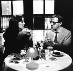 Woody Allen and Anjelica Huston in Manhattan Murder Mystery Bad Education, Rhapsody In Blue, John Huston, Anjelica Huston, Lights Camera Action, Roman Polanski, Celebrity Photography, Best Mysteries, Movies