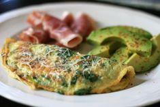 Baby Spinach Omelet Recipe   Allrecipes Sausage Breakfast, Breakfast Dishes, Breakfast Recipes, Brunch Recipes, Breakfast Ideas, Breakfast Spinach, Breakfast Omelette, Sin Gluten, Gluten Free