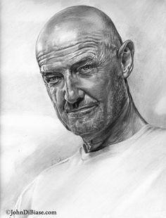 Terry O'Quinn as John Locke {of Lost tv series} pencil portrait by John DiBiase Cool Pencil Drawings, Amazing Drawings, Realistic Drawings, Pencil Art, Drawing Sketches, Horse Drawings, Drawing Art, Portraits, Portrait Art