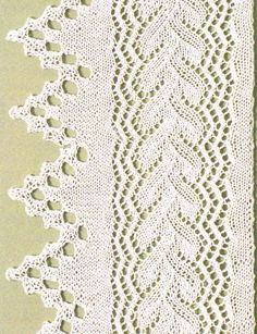many Knitted Edge and Lace Panel Chart on this blog