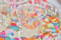 Sprinkle Rimmed Punch Cups