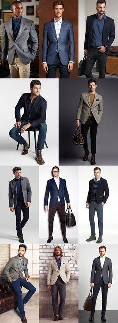 Key Pieces For Autumn Business-Casual : Navy Blazers, Grey Tweed Blazers, Beige Cotton Blazers Lookbook Inspiration