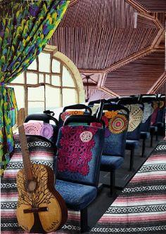 мудборд пространство 1. Внутри автобуса специально предназначенного для певцов со всеми удобствами