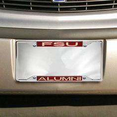 florida state seminoles fsu alumni acrylic insert chrome license plate frame