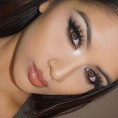 """""""Close up  lashes are @shophudabeauty @hudabeauty in Sasha ( my favs ) available at @sephora , lipgloss is from @anastasiabeverlyhills in sepia and…"""""""