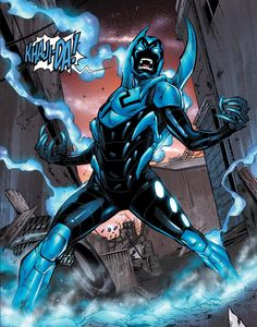 Blue Beetle. Seriously in love with Jaime Reyes. And Khaji Da, of course. ;)