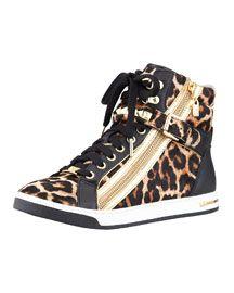 Michael Kors  Glam Leopard-Print Hi-Top - fall 2013