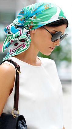 Inspiração: lenço na cabeça | Dia de Beauté