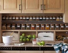 Ordnung In Der Küche Schaffen Arbeitsplatte Gewürzen Behälter