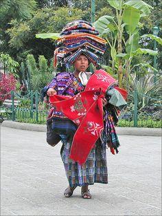 Guatemalan Woman Cross Stitch Pattern  Just print and get started! $3.75