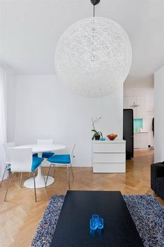 Fresh Turquoise Apartment with a Feminine Appeal - http://freshome.com/2011/07/18/fresh-turquoise-apartment-with-a-feminine-appeal/