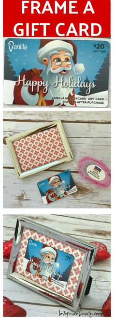 A Cute and Clever Way to Gift a Gift Card. Frame gift card.