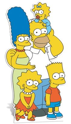 Simpson Family Standup. Stands 1.6m tall. Item is a cardboard cutout.