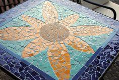 Ceramic Tile Mosaic Table Top - DIY project: