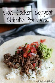 Do you love Chipotle as much as I do? Then you will love this Copycat Chipotle Barbacoa recipe I made in my slow cooker.