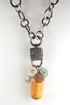 Holly Masterson Sterling Adornment with Antique Shell Bead There