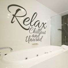 relax chill out and unwind wall sticker quote wall art