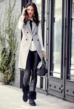 Star-Stylistin Rachel Zoe zeigt, wie man Ugg Boots RICHTIG COOL stylt >>