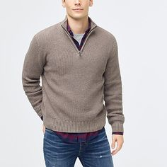 Crew Factory for the Waffle-knit half-zip pullover for Men. Find the best selection of Men Clothing available in-stores and online. Mens Clothing Lines, Discount Mens Clothing, J Crew Style, Half Zip Sweaters, Half Zip Pullover, Waffle Knit, Mens Tees, Kids Outfits, Men Sweater