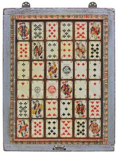 Industrial, Vintage Playing Cards Wall Art - JUNKMARKET Style
