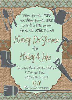 Couples Honey Do Shower Invitation / digital by GenerationsInk