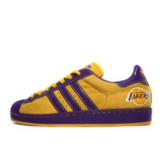 "adidas sneakers | Adidas Superstar 1 ""LA Lakers"" (yellow / purple) | OVERKILL Sneaker ..."