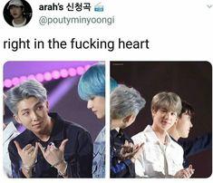 Namjin is a ship,the whole army agrees on. Namjin, Bts Memes, Funny Memes, Yoonmin, Bts Boys, Bts Bangtan Boy, Bts Jin, Taekook, Seokjin