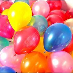 Lesklé nafukovací balónky 100 ks - více barev