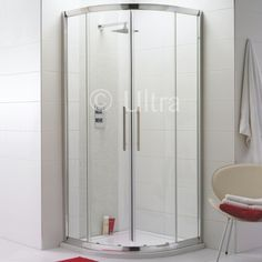 Try a quadrant shower enclosure for a different look to your bathroom.