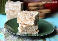 Nutter Butter Krispie Treats (cookiesandcups)