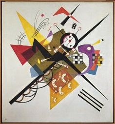 """ Each color lives by its mysterious life."" #Kandinsky - ""On White ii"", 1923"