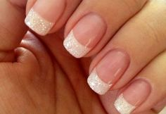 faded french nails Hair Colors - faded french nails Hair Co. - faded french nails Hair Colors – faded french nails Hair Co… – faded fr - French Manicure Nail Designs, French Tip Gel Nails, Nail Manicure, Nail Art Designs, French Manicures, Manicure Ideas, Nail Polish, French Manicure With Glitter, French Nail Art