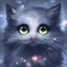 Grey cat by Develv.deviantart.com on @deviantART