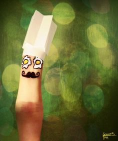 Give them the finger / Chef Finger Fun, Finger Plays, Finger Cartoon, Funny Fingers, How To Draw Fingers, Cute Couple Cartoon, Crossed Fingers, Finger Painting, Finger Puppets