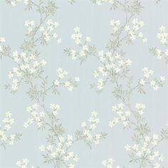 Brewster Home Fashions Claremont Altha Jasmine Trail x Floral Embossed Wallpaper Color: Blue Asian Wallpaper, Interior Wallpaper, Wallpaper Paste, Wallpaper Samples, Vinyl Wallpaper, Home Wallpaper, Flower Wallpaper, Wallpaper Roll, Wallpaper Ideas