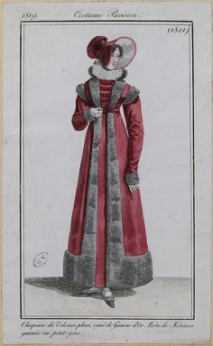 A pelisse-dress 1819 costume parisien
