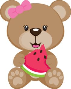 Cute Baby Girl Bear Clipart Cartoon Picture Images Free To Copy For Your Own Personal Use.All Bear Images Are On A Transparent Background