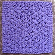Knitted Dishcloth Pattern #1: Blackberries on Little House in the Suburbs at http://littlehouseinthesuburbs.com/2008/10/knitted-dishcloth-pattern-1-blackberries.html