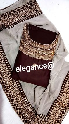 Dress Indian Style, Indian Dresses, Indian Outfits, Shadi Dresses, Indian Clothes, Embroidery Suits Punjabi, Embroidery Suits Design, Kurta Designs Women, Salwar Designs
