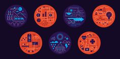 A series of seven editorial illustrations for IBM Systems Magazine.