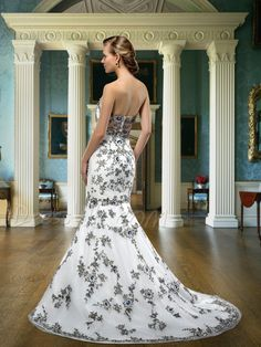 Fatanstic Mermaid/Trumpet Floor-length Embroider Zipper-up Sweetheart Neck Wedding Dress 10876834 - Wedding Dresses 2014 - Dresswe.Com