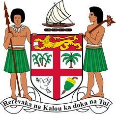 Image: Coat of Arms Fiji Facts for Kids National Animal, National Flag, National Symbols, Carta Real, Fiji Flag, Lion Paw, World Thinking Day, Fiji Islands, Banner