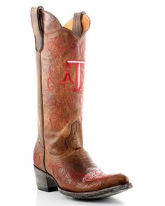 Women's Texas A boots....thinking I need these for game day!!